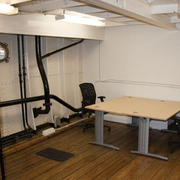 Office space in HMS President (1918) Victoria Embankment